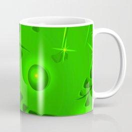 Pattern lime plant elements light green ethnic style. Coffee Mug
