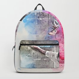 Skateboard Kickflip Painting Backpack