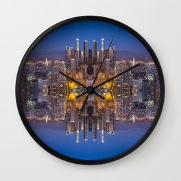 Aztec city 1 Wall Clock