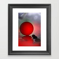 just red - portrait format Framed Art Print