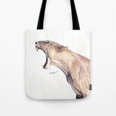 Lioness Yawning Tote Bag