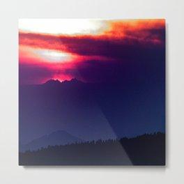Cote d'Azur Sunset Metal Print
