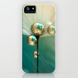 Dandy with Drops of Gold and Jade iPhone Case
