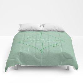 Ar Numerat | QUADRIVIUM - MINIMALIST POSTER Comforters