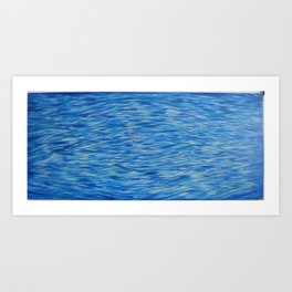 Water Meditation Diamond Wave Pattern Art Print