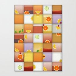 cocktail squares Canvas Print