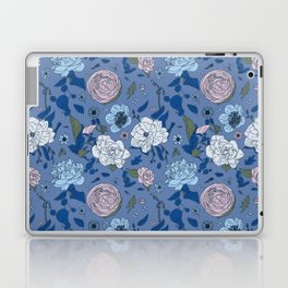 Lovely Seamless Floral Pattern With Subtle Poodles (Hand Drawn) Laptop & iPad Skin