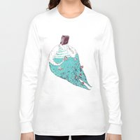 fat Long Sleeve T-shirts featuring sad fat and ugly by mariana, a miserável(the miserable one)