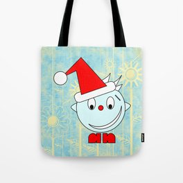 Funny Head with half smile Tote Bag