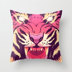 Cool angry tiger Throw Pillow