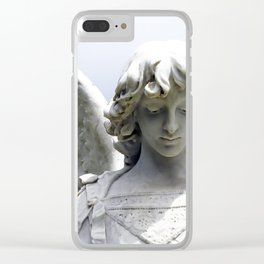 Autumn Angel Clear iPhone Case