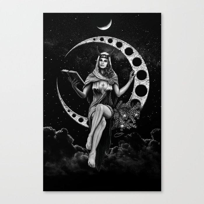 II. The High Priestess Tarot Card Illustration (Alternative Version) Canvas Print