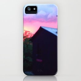 PINK SKY CANOE SHACK iPhone Case