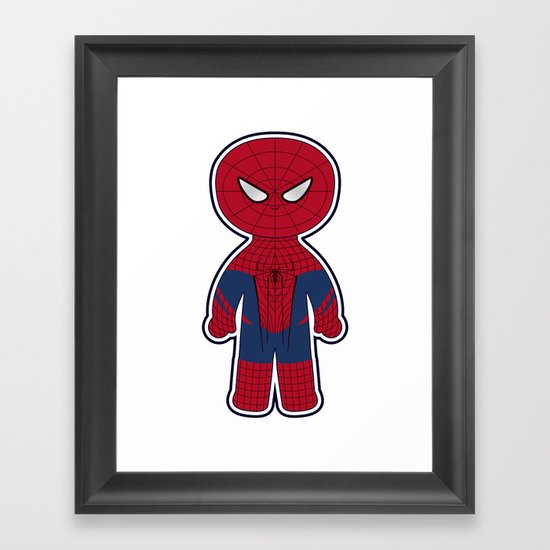 Chibi Spider-man Framed Art Print