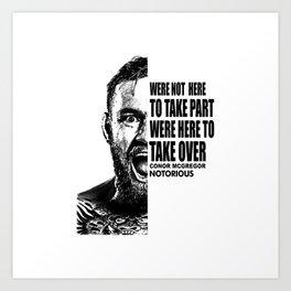 Conor Notorious Art Print