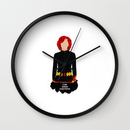 A One Woman Castrophe Wall Clock