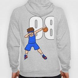 Basketballer Basketball Player Baller Number 98 Blue Team School League Bball Sports Tournament Hoody