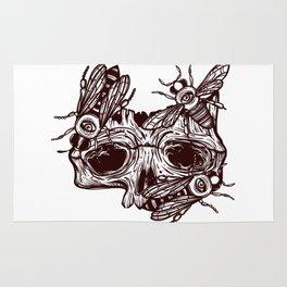 skull and wasps. horseman of the Apocalypse Rug