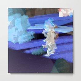 Little Robot Man Metal Print