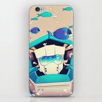 underwater iPhone & iPod Skins featuring Underwater by Coralus