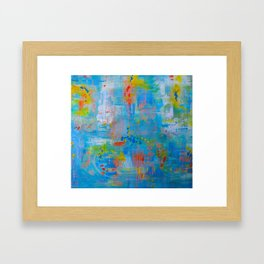 Colorful Abstract Wall Art, Vibrant colors, Contemporary home decor Framed Art Print