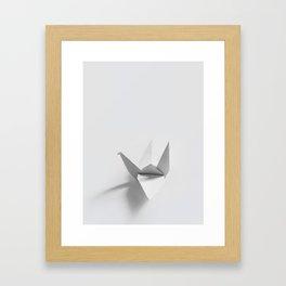 Paper origami crane Framed Art Print