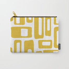 Retro Mid Century Modern Abstract Pattern 336 Mustard Yellow Carry-All Pouch