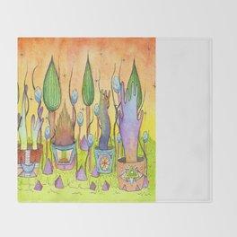 Dream Garden 1 Throw Blanket