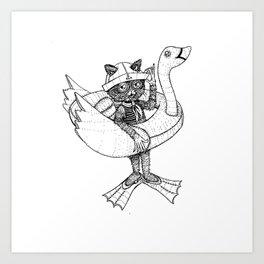 Dexter Loves Friend Ships Art Print