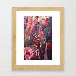 Swimmingly Framed Art Print