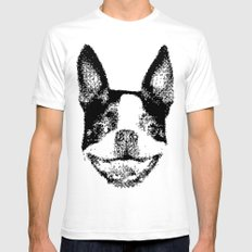 Huge boston terrier head Mens Fitted Tee SMALL White