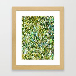 Bamboo green forest background Framed Art Print