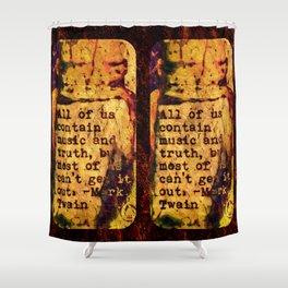 Twain Times Shower Curtain