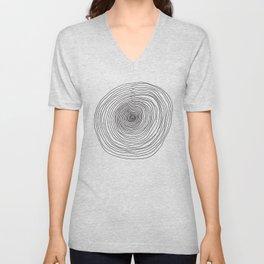 Concentric Circles Unisex V-Neck