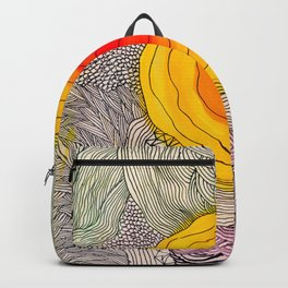 abstract sun flower Backpack