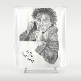 Hello Snotface Shower Curtain