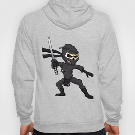 skull ninja cartoon. Hoody