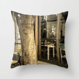 Art is everywhere ! Firenze Italy restaurant Throw Pillow