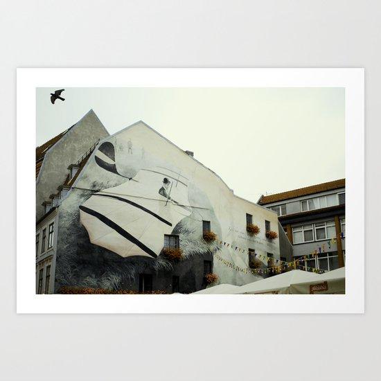 Riga fasade Art Print