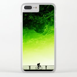 Toxic bicycle Clear iPhone Case