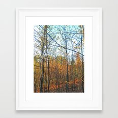 Vertical Parallels Framed Art Print