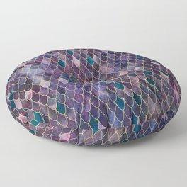 Mermaid Dark Purple Floor Pillow