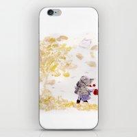 wind iPhone & iPod Skins featuring Wind by MARIA BOZINA - PRINT