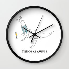 Mimosasaurus Sporting Blue Scarf Wall Clock