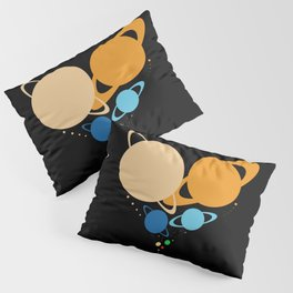 Solar System Heart (to scale) Pillow Sham