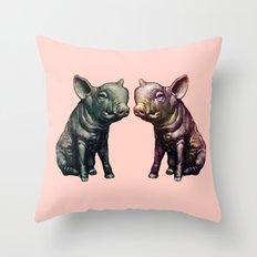 true love (pig love) Throw Pillow