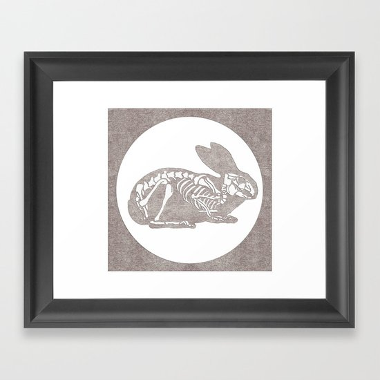 In which a rabbits anatomy is observable  Framed Art Print