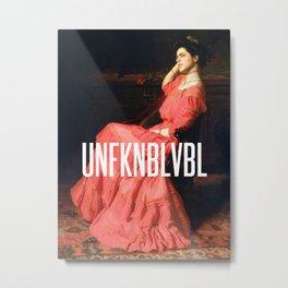 UNFKNBLVBL, Feminist Metal Print