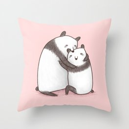 Panda Cuddle Throw Pillow