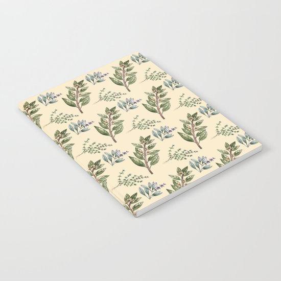 Herb Pattern Notebook